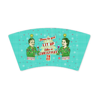 Funny Christmas Party Retro Adult Drinking Holiday Paper Cup