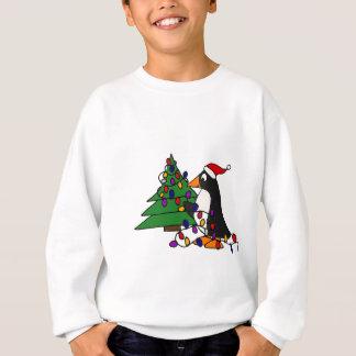 Funny Christmas Penguin Art Sweatshirt