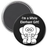Funny Christmas Present: Real White Elephant Gift! Refrigerator Magnet