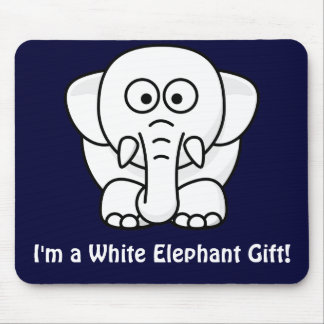 Funny Christmas Present: Real White Elephant Gift! Mouse Pad
