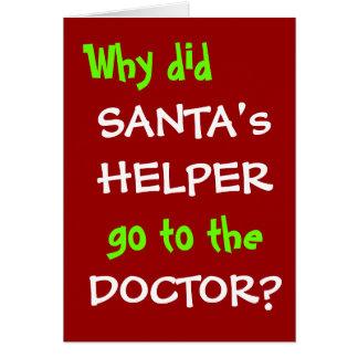 Funny Christmas Pun - Santa Doctor Joke Card
