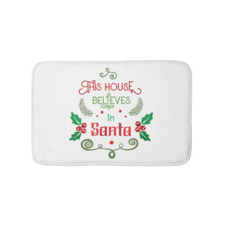 Funny Christmas quote Bath Mat