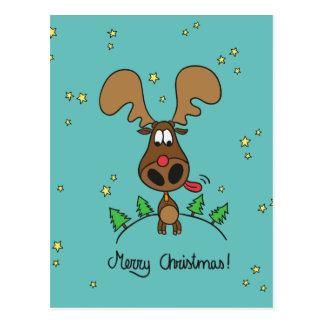 Funny Christmas reindeer Postcard