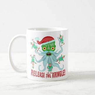 Funny Christmas Release the Kringle Santa Claus Coffee Mug