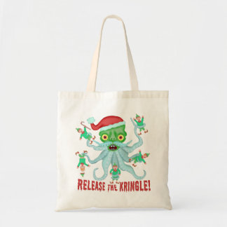 Funny Christmas Release the Kringle Santa Claus Tote Bag