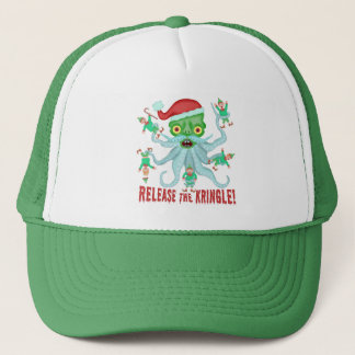 Funny Christmas Release the Kringle Santa Claus Trucker Hat