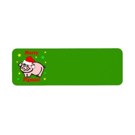 Funny Christmas Return Address Label