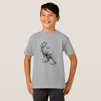 Funny Christmas Roodeer Seasons Greetings T-Shirt