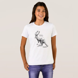 Funny Christmas Roodeer Seasons Greetings T-Shirt