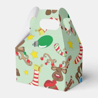 Funny Christmas Rudolph Cartoon Pattern Favour Box