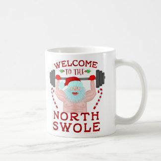 Funny Christmas Santa Claus Swole Weightlifter Coffee Mug