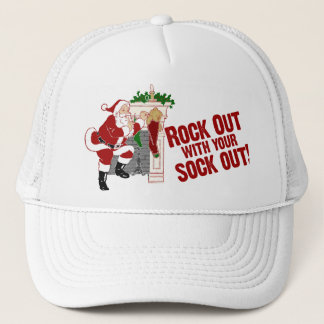 Funny Christmas Santa Claus Trucker Hat