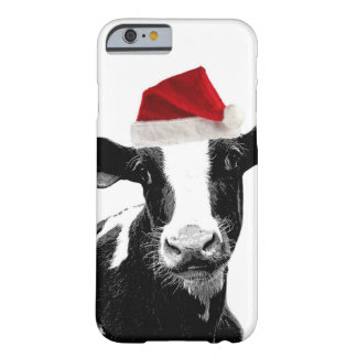 Funny Christmas Santa Cow Barely There iPhone 6 Case