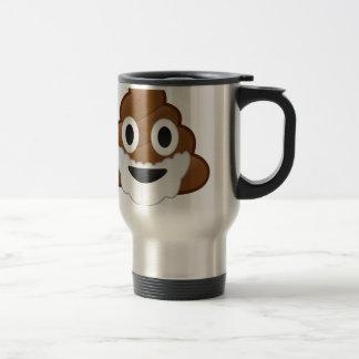 Funny Christmas Santa Poop Emoji Travel Mug