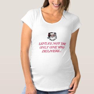 Funny Christmas Santa Pregnant t-shirt