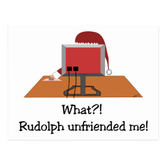 Funny Christmas - Santa Unfriended by Postcard