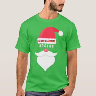 Funny Christmas Santa's Favorite Doctor Custom T-Shirt