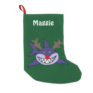 Funny Christmas Shark with Red Nose