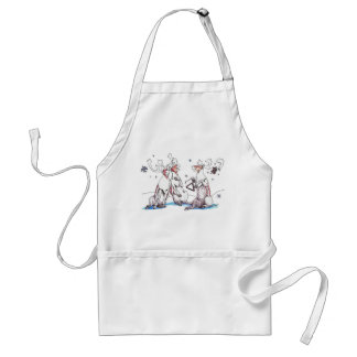 Funny Christmas Singing Caribou Art Designed Standard Apron