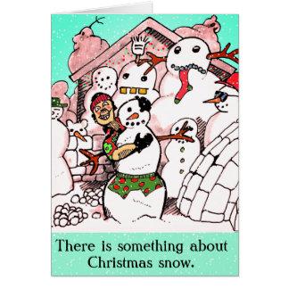 FUNNY CHRISTMAS SNOW by Slipperywindow Card