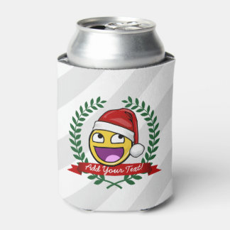 Funny Christmas Style Awesome Face Meme Can Cooler