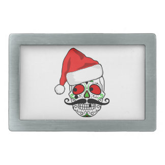 Funny Christmas Sugar Skull Belt Buckles