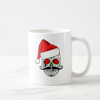 Funny Christmas Sugar Skull Coffee Mug
