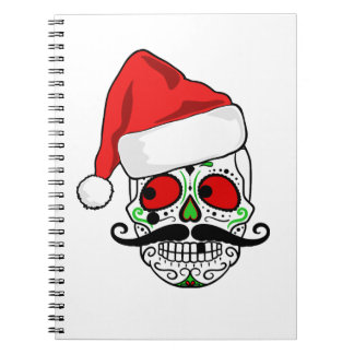 Funny Christmas Sugar Skull Notebooks