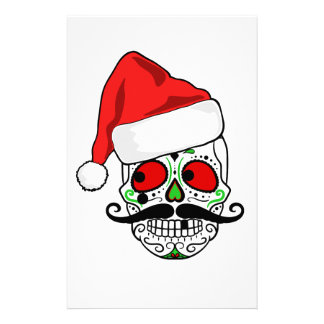 Funny Christmas Sugar Skull Stationery