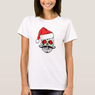 Funny Christmas Sugar Skull T-Shirt