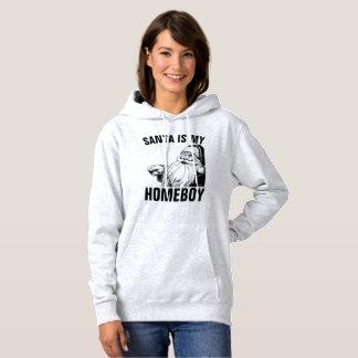 Funny Christmas T-shirts, SANTA IS MY HOMEBOY Hoodie