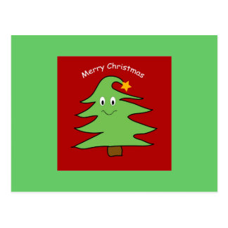 Funny Christmas Tree Card Postcard