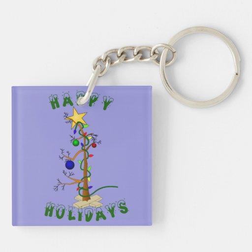 Funny Christmas Tree Acrylic Key Chain