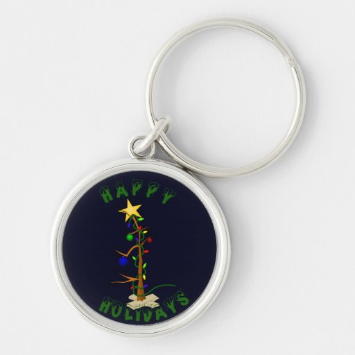 Funny Christmas Tree Keychains