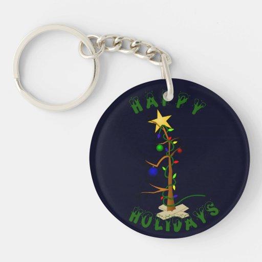 Funny Christmas Tree Keychain