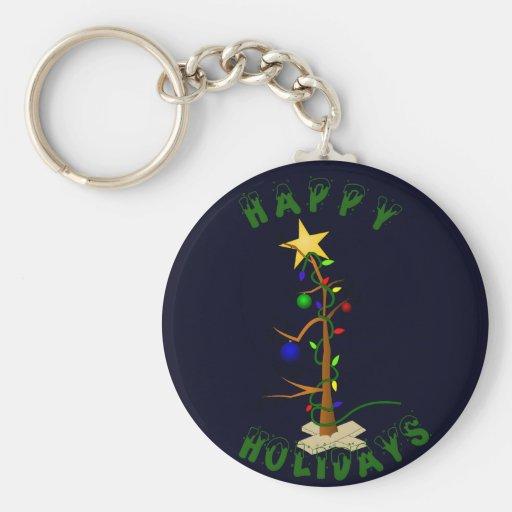 Funny Christmas Tree Key Chains
