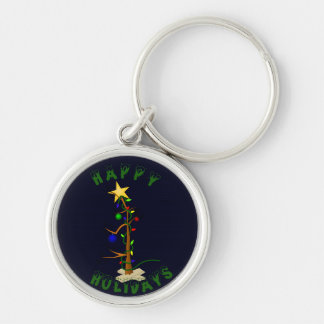 Funny Christmas Tree Keychains