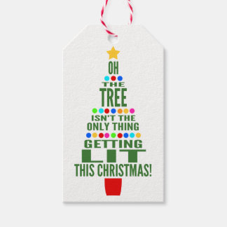 Funny Christmas Wine/Champagne Bottle Personalized Gift Tags