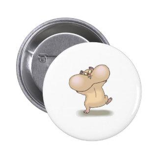 funny chubby cheeks hamster 6 cm round badge