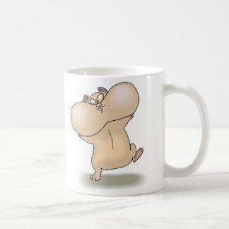 funny chubby cheeks hamster basic white mug