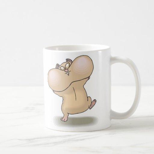 funny chubby cheeks hamster coffee mugs