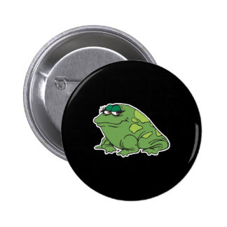 funny chubby girl frog 6 cm round badge