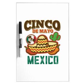 Funny Cinco De Mayo Mexican Dry Erase Board