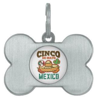 Funny Cinco De Mayo Mexican Pet Name Tag