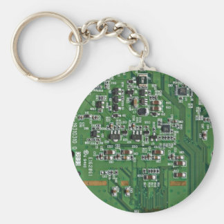 Funny circuit board key ring