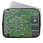 Funny circuit board laptop sleeve