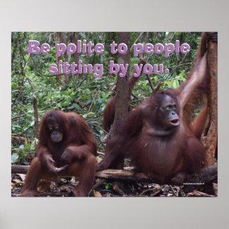 Funny Classroom Rules Courtesy Borneo Poster