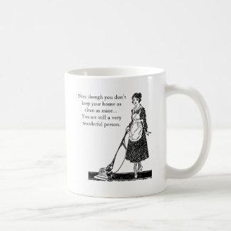 Funny Clean House - Customize Basic White Mug