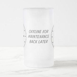 Funny Clock Face Maintenance Drinks Glass Coffee Mug