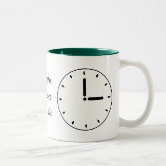 Funny Clock Face Scheduled Maintenance Cup Coffee Mug